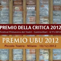 PREMIO UBU E CRITICA dicembre 2012