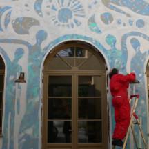 ENTRATA DEL FUNARO Intervento pittorico di Antonio Catalano Novembre 2009